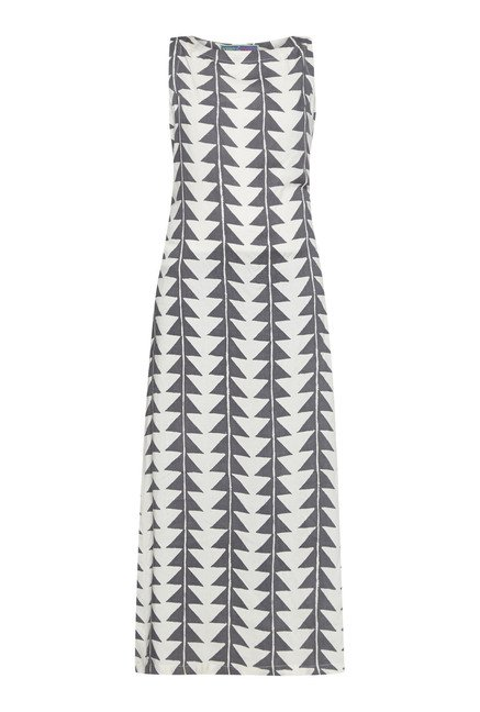 Bombay Paisley by Westside White Geometric Print Dress