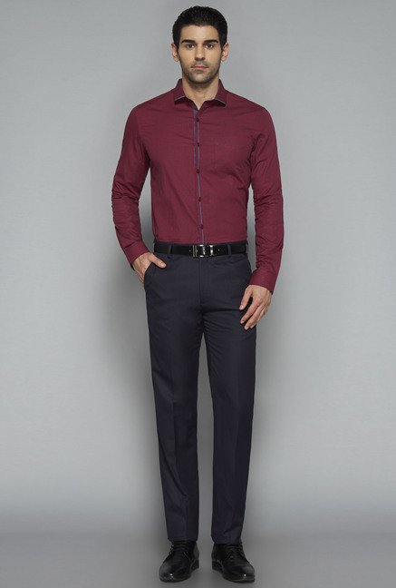 Weststreet by Westside Maroon Checks Shirt