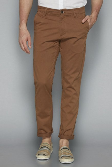 Westsport by Westside Brown Solid Chinos