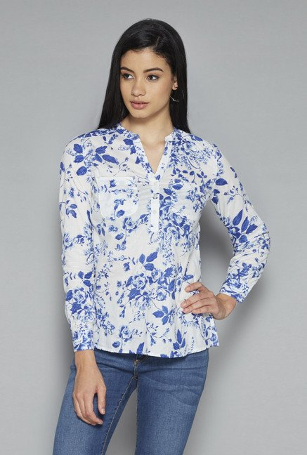 LOV by Westside Off White Printed Phoebe Blouse