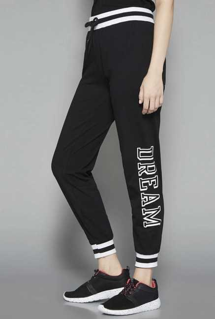Westsport by Westside Black Printed Joggers