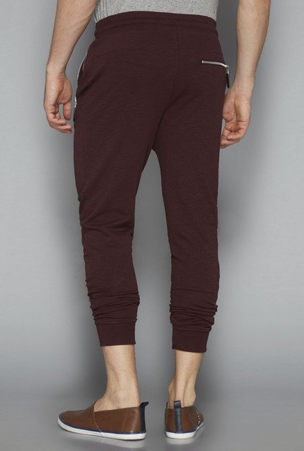 Nuon by Westside Brown Solid Joggers