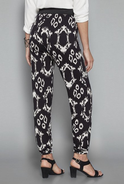 LOV by Westside Black Printed Joggers