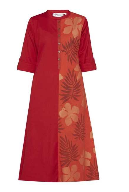 Utsa by Westside Red & Orange Printed Kurta