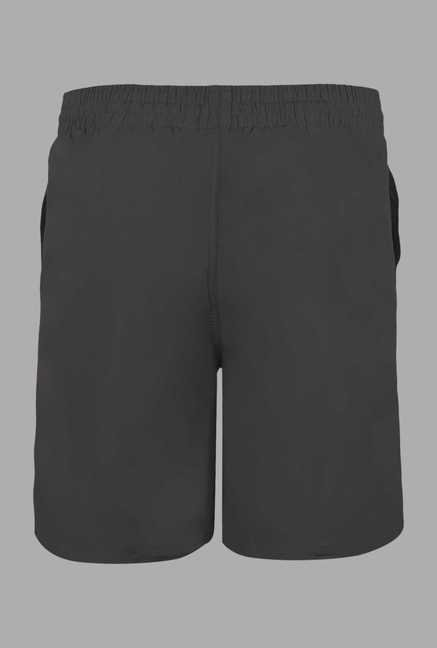 Doone Black Solid Training Shorts