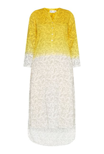 Utsa by Westside Yellow & White Printed Kurta
