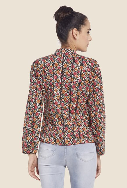 Globus Multicolor Floral Printed Jacket