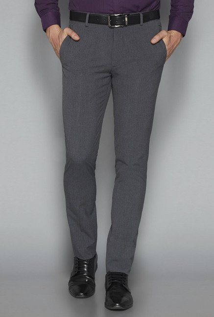 Weststreet by Westside Charcoal Solid Trouser