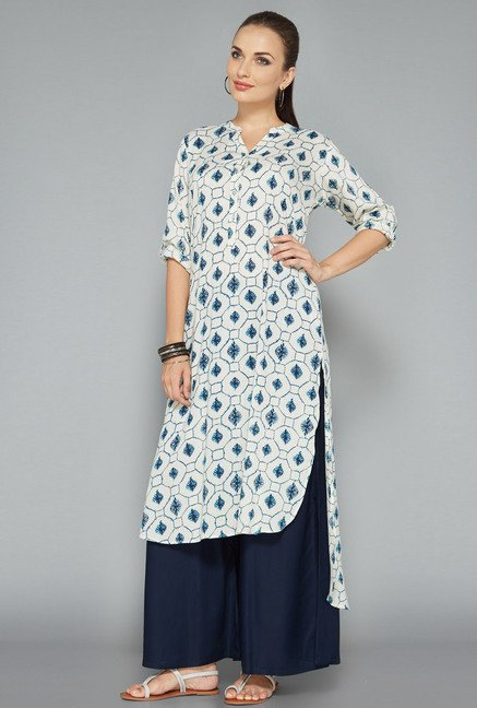 Utsa by Westside Off White Printed Kurta