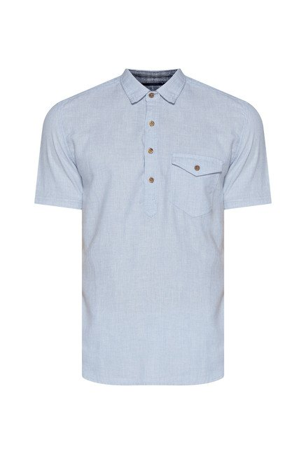 Westsport by Westside Light Blue Solid Shirt