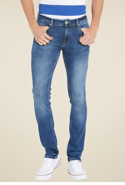 Globus Blue Skinny Fit Denim Jeans