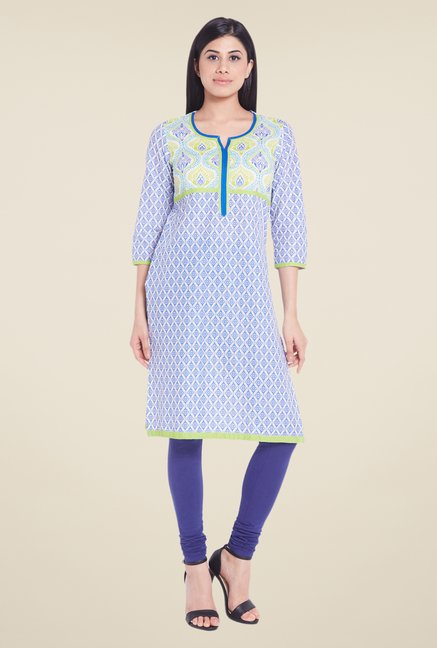 Globus Blue Cotton Kurti