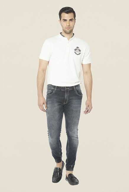 Globus Black Lightly Washed Jeans