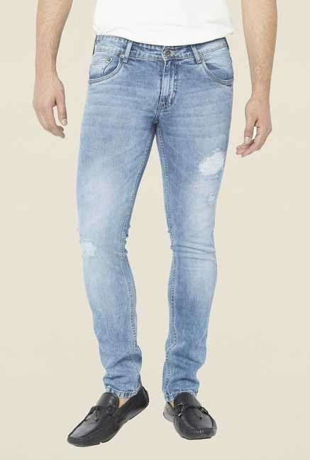 Globus Light Blue Tattered Regular Jeans