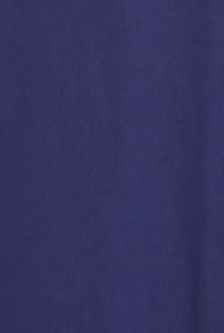 Globus Navy Solid Cotton Palazzos