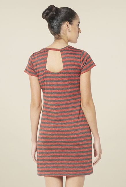 Globus Red & Grey Shift Dress