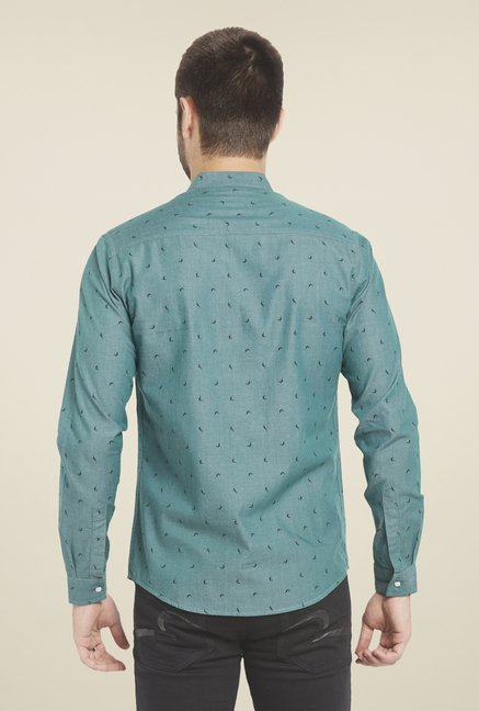 Globus Green Fish Print Shirt