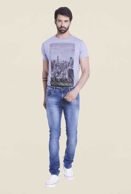 Globus Blue Lightly Washed Denim Jeans