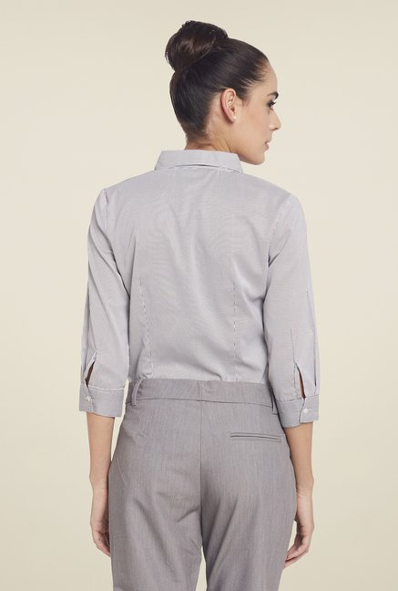 Globus Grey Striped Shirt