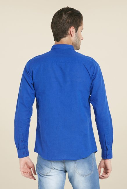Globus Royal Blue Solid Shirt