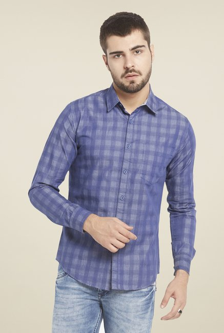 Globus Blue Checked Shirt