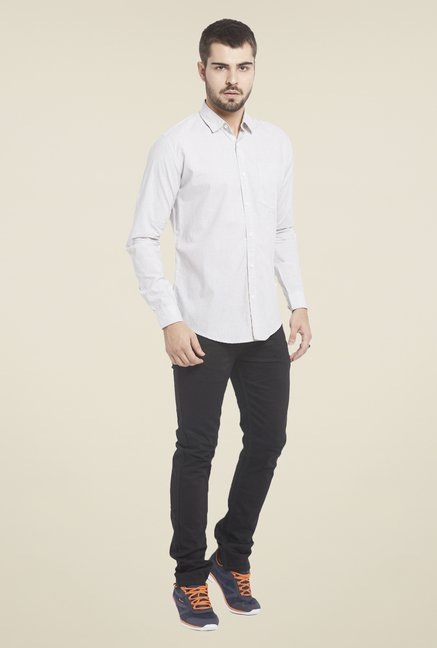 Globus Light Grey Solid Shirt