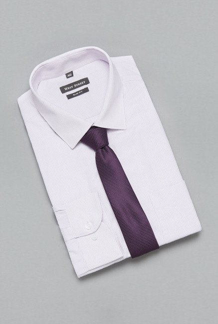 Weststreet by Westside Purple Checks Shirt