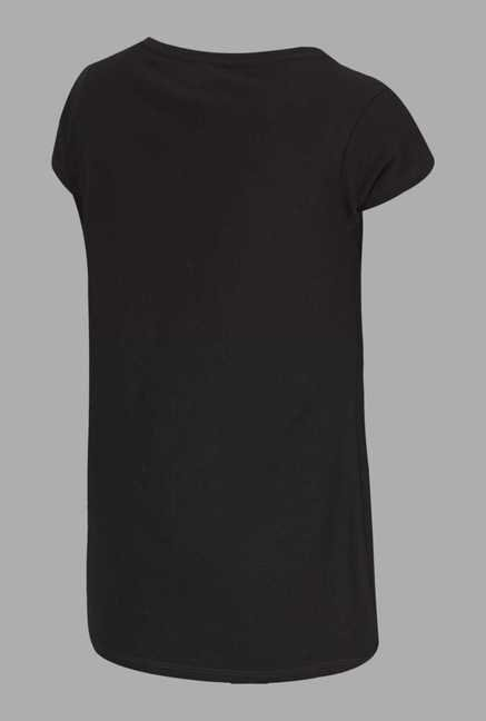 Doone Black Printed Training T Shirt