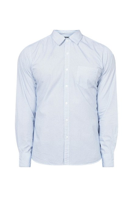 Zudio Light Blue Printed Shirt