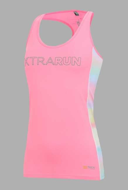 Outpace Light Pink Printed Running Singlet