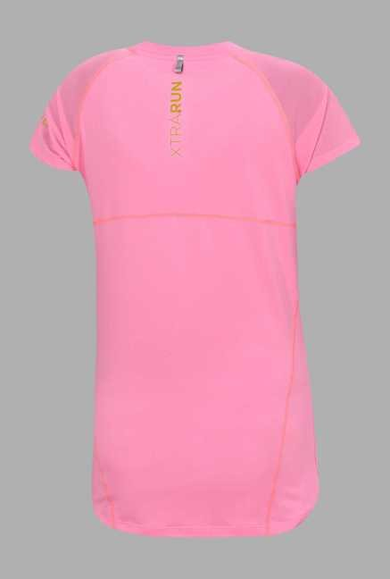 Outpace Light Pink Solid Running T Shirt