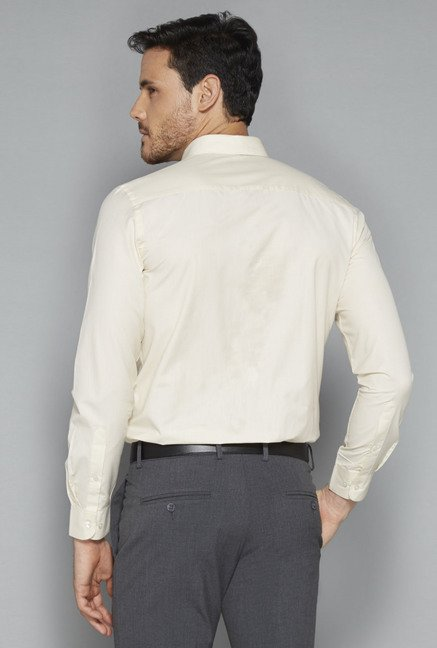 Weststreet by Westside Beige Solid Shirt