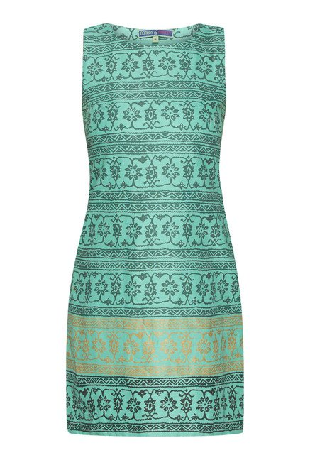 Bombay Paisley by Westside Green Floral Print Dress