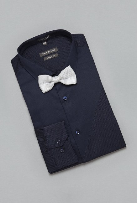 Weststreet by Westside Navy Solid Shirt