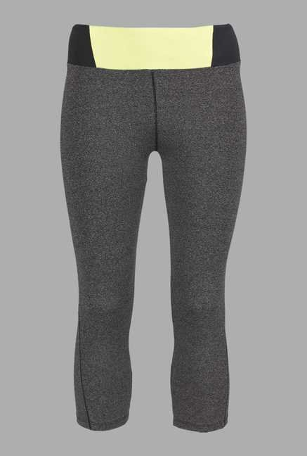Doone Grey Solid Training Capris