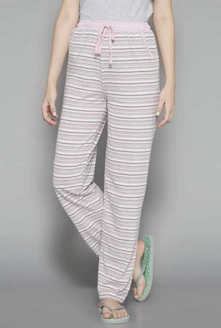 Intima by Westside Light Pink Striped Pyjamas