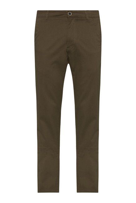 Westsport by Westside Olive Solid Chinos