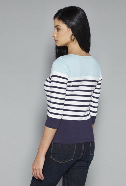 LOV by Westside Multicolor Striped Willy Top