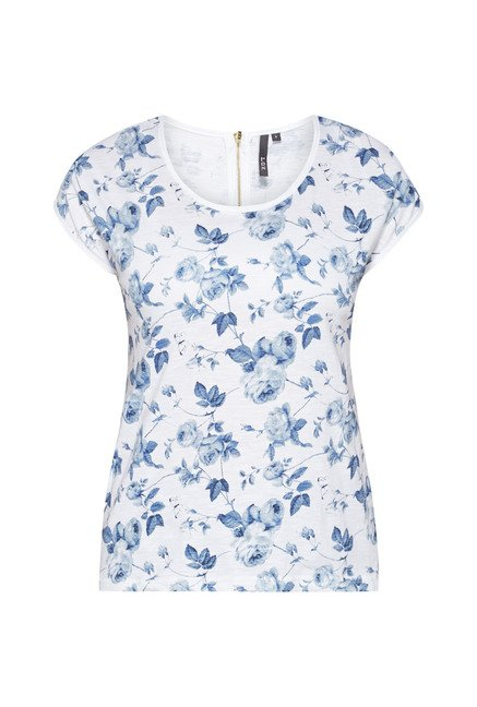 LOV by Westside White Printed Zelia Top