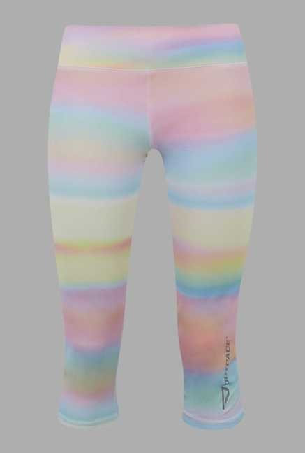 Outpace Multicolor Printed Running Capris
