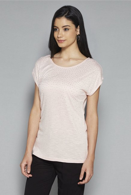 LOV by Westside Pink Embellished Shimona Top