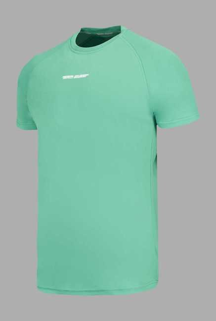 Team Quest Green Solid Football T Shirt