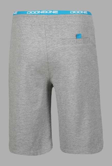 Doone Grey Solid Training Shorts