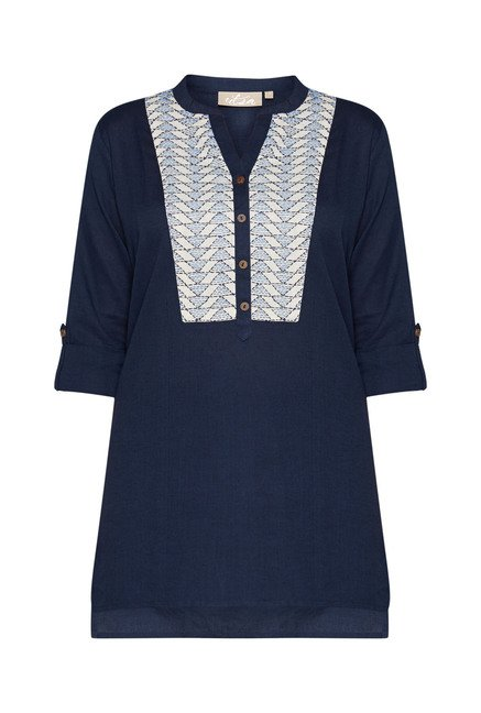 Utsa by Westside Navy Embroidered Kurti