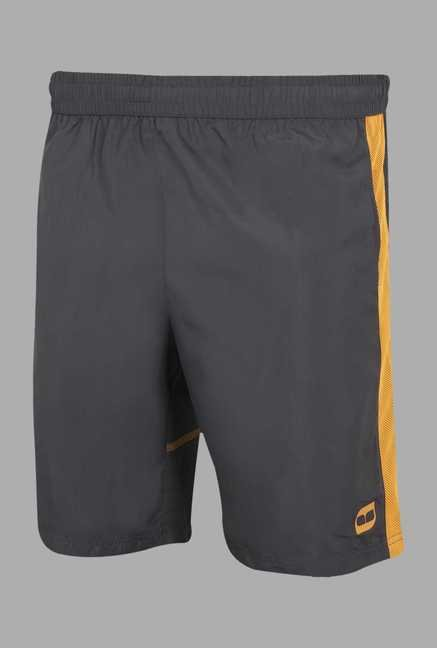 Doone Dark Grey Solid Training Shorts