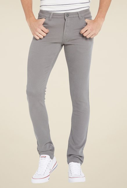 Globus Grey Solid Chinos