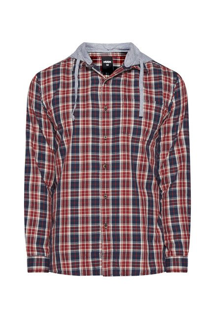 Nuon by Westside Red Checks Shirt