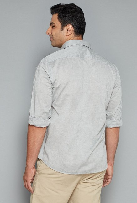 Oak & Keel by Westside Grey Solid Shirt