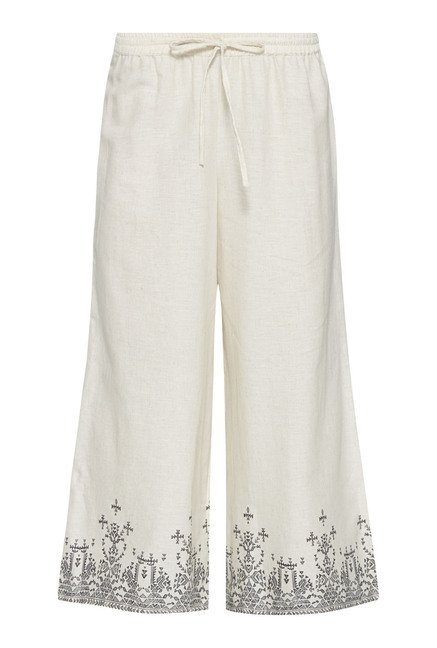 Bombay Paisley by Westside Off White Solid Palazzos