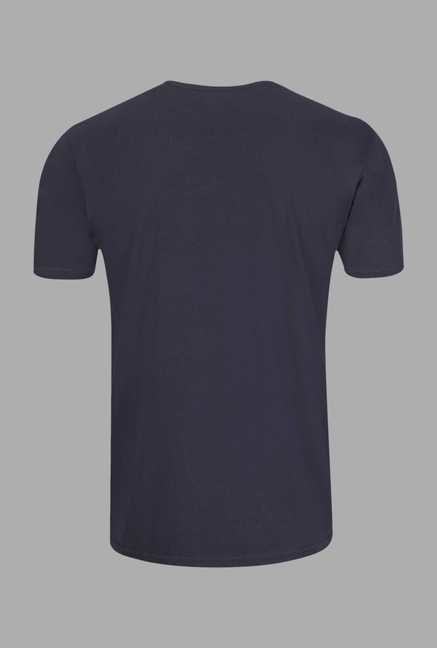 Doone Navy Graphic Print Training T Shirt